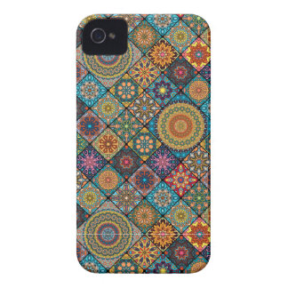 Vintage patchwork with floral mandala elements Case-Mate iPhone 4 cases