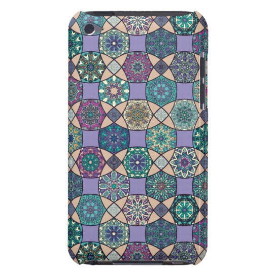 Vintage patchwork with floral mandala elements Case-Mate iPod touch case