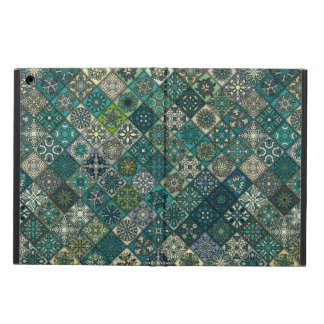 Vintage patchwork with floral mandala elements cover for iPad air