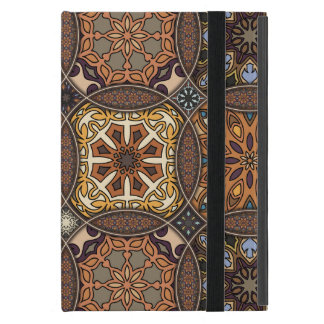 Vintage patchwork with floral mandala elements cover for iPad mini