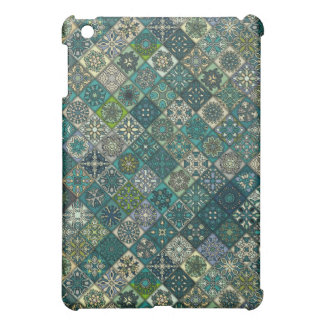 Vintage patchwork with floral mandala elements cover for the iPad mini