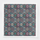 Vintage patchwork with floral mandala elements disposable napkin