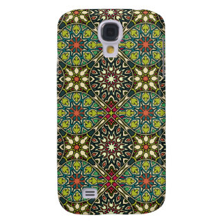 Vintage patchwork with floral mandala elements galaxy s4 case