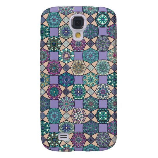 Vintage patchwork with floral mandala elements galaxy s4 cover