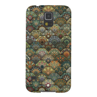 Vintage patchwork with floral mandala elements galaxy s5 covers