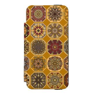 Vintage patchwork with floral mandala elements incipio watson™ iPhone 5 wallet case