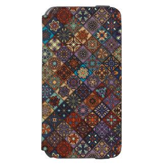 Vintage patchwork with floral mandala elements incipio watson™ iPhone 6 wallet case