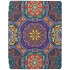 Vintage patchwork with floral mandala elements iPad cover