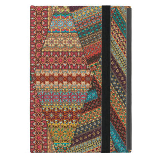 Vintage patchwork with floral mandala elements iPad mini case