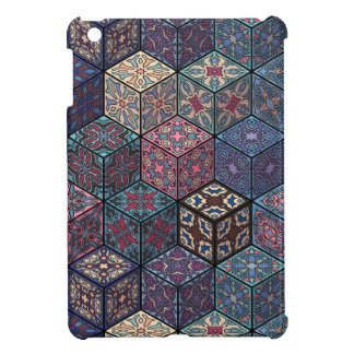 Vintage patchwork with floral mandala elements iPad mini cover