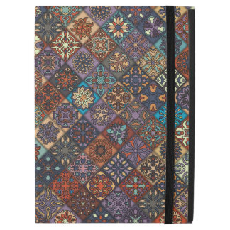 "Vintage patchwork with floral mandala elements iPad pro 12.9"" case"