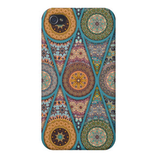 Vintage patchwork with floral mandala elements iPhone 4/4S case