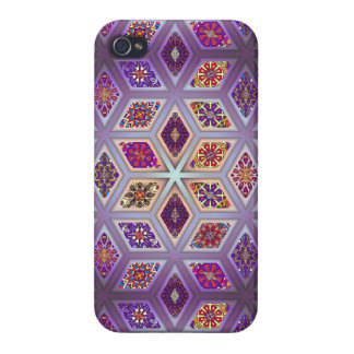 Vintage patchwork with floral mandala elements iPhone 4/4S cover
