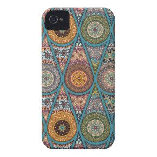 Vintage patchwork with floral mandala elements iPhone 4 case