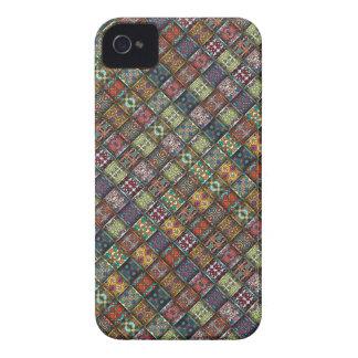 Vintage patchwork with floral mandala elements iPhone 4 Case-Mate case