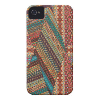 Vintage patchwork with floral mandala elements iPhone 4 Case-Mate cases