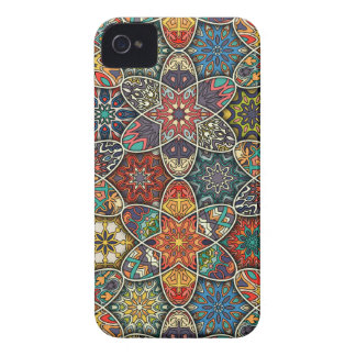 Vintage patchwork with floral mandala elements iPhone 4 cover