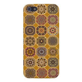Vintage patchwork with floral mandala elements iPhone 5/5S case