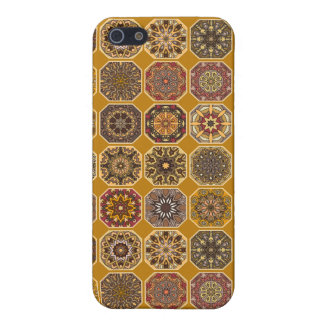 Vintage patchwork with floral mandala elements iPhone 5/5S covers