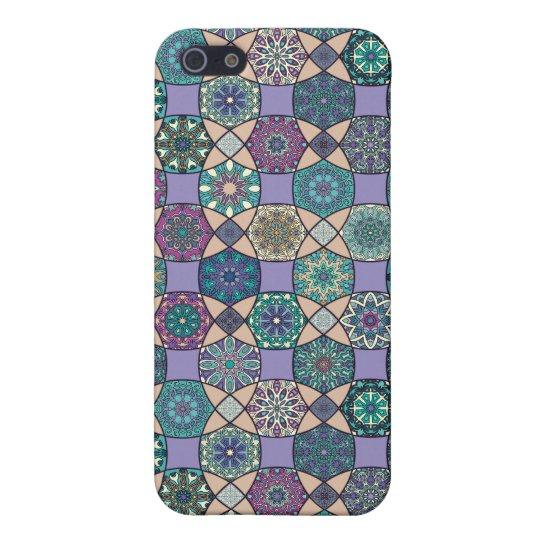 Vintage patchwork with floral mandala elements iPhone 5 case