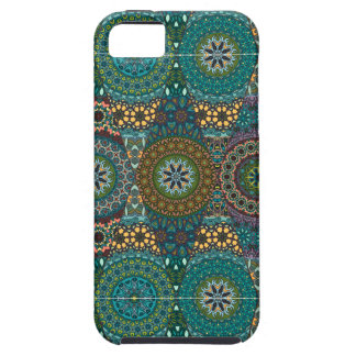Vintage patchwork with floral mandala elements iPhone 5 cases