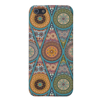 Vintage patchwork with floral mandala elements iPhone 5 cover