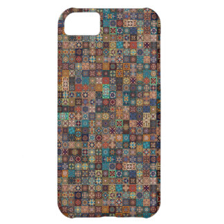 Vintage patchwork with floral mandala elements iPhone 5C case