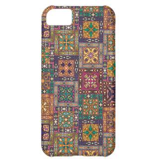 Vintage patchwork with floral mandala elements iPhone 5C case