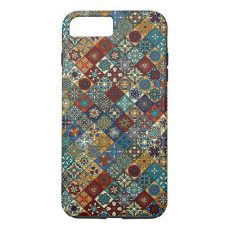 Vintage patchwork with floral mandala elements iPhone 8 plus/7 plus case