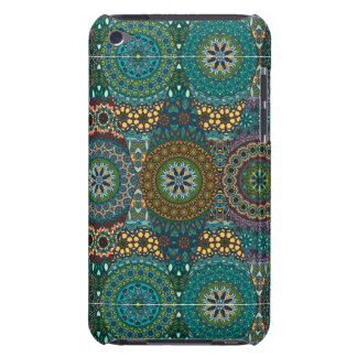 Vintage patchwork with floral mandala elements iPod Case-Mate cases