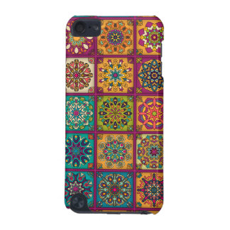 Vintage patchwork with floral mandala elements iPod touch 5G case