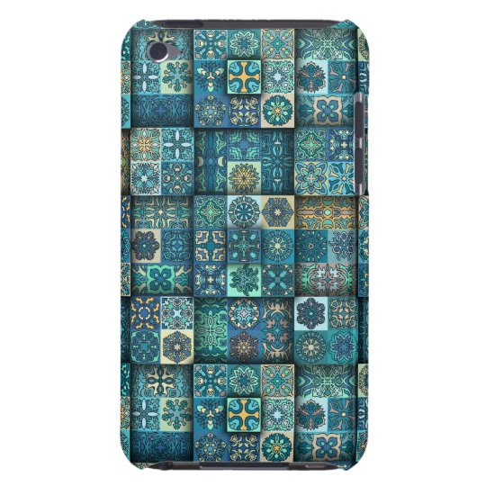 Vintage patchwork with floral mandala elements iPod touch covers