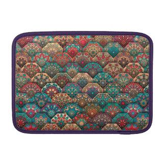 Vintage patchwork with floral mandala elements MacBook air sleeve