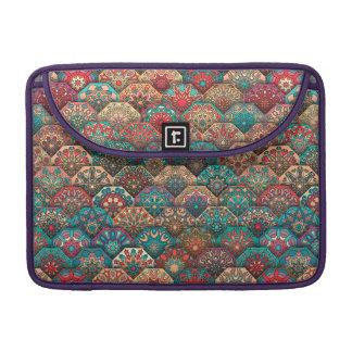 Vintage patchwork with floral mandala elements MacBook pro sleeves