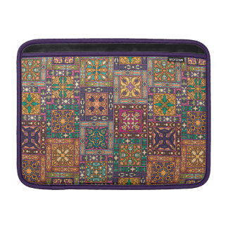 Vintage patchwork with floral mandala elements MacBook sleeve