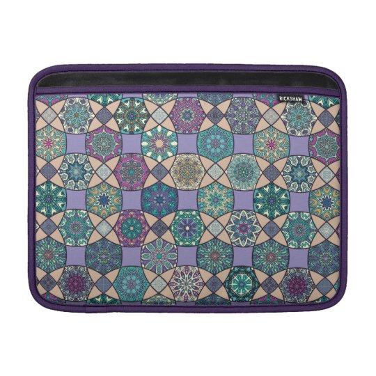 Vintage patchwork with floral mandala elements MacBook sleeve