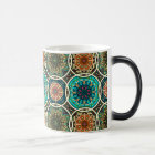 Vintage patchwork with floral mandala elements magic mug