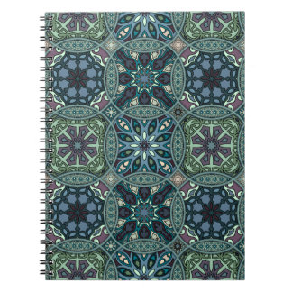 Vintage patchwork with floral mandala elements notebooks