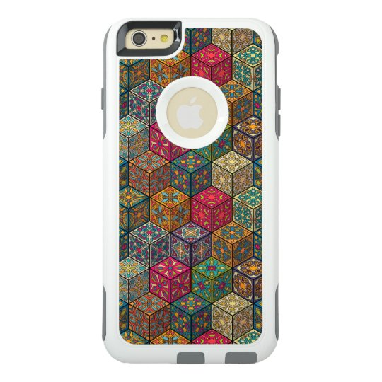 Vintage patchwork with floral mandala elements OtterBox iPhone 6/6s plus case