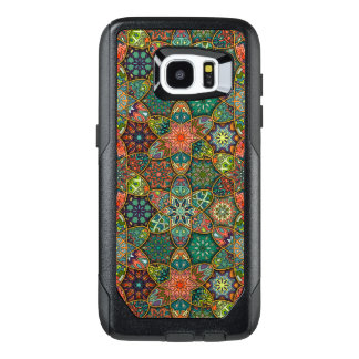 Vintage patchwork with floral mandala elements OtterBox samsung galaxy s7 edge case