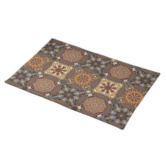 Vintage patchwork with floral mandala elements placemat