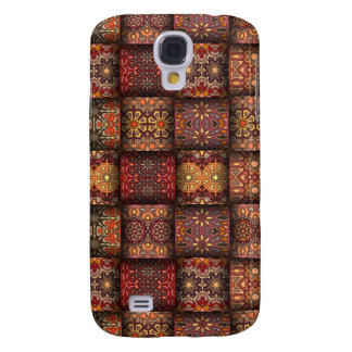 Vintage patchwork with floral mandala elements samsung galaxy s4 case