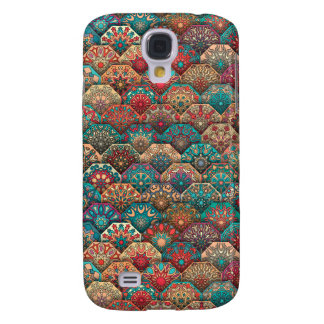Vintage patchwork with floral mandala elements samsung galaxy s4 cases