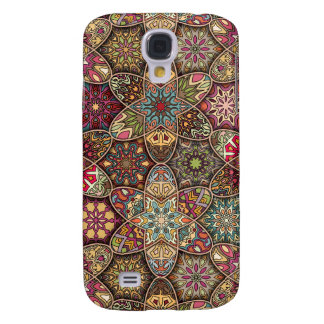Vintage patchwork with floral mandala elements samsung galaxy s4 cover