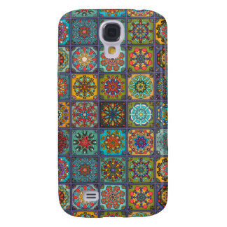 Vintage patchwork with floral mandala elements samsung galaxy s4 covers