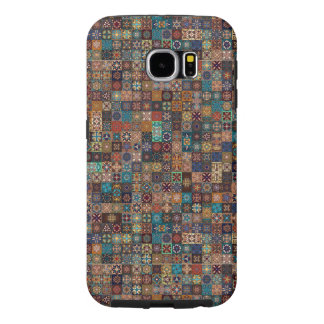 Vintage patchwork with floral mandala elements samsung galaxy s6 cases