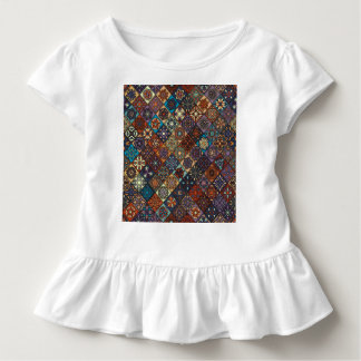 Vintage patchwork with floral mandala elements toddler T-Shirt