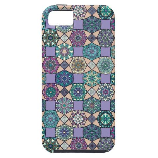 Vintage patchwork with floral mandala elements tough iPhone 5 case