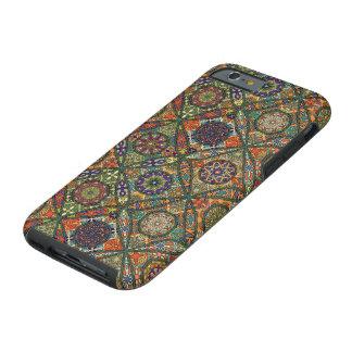 Vintage patchwork with floral mandala elements tough iPhone 6 case