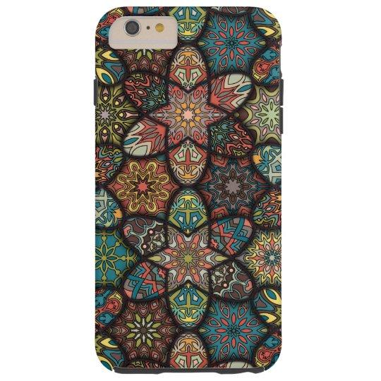 Vintage patchwork with floral mandala elements tough iPhone 6 plus case
